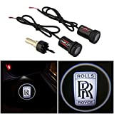 rolls royce parts - CHAMPLED For ROLLS ROYCE Laser Projector Logo Illuminated Emblem Step courtesy Light Lighting symbol sign Badge LED Glow Motorcycle Performance Tuning Accessory