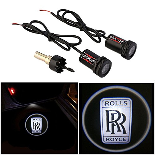 Champled For Rolls Royce Laser Projector Logo Illuminated Emblem Step Courtesy Light Lighting Symbol Sign Badge Led Glow Motorcycle Performance Tuning Accessory
