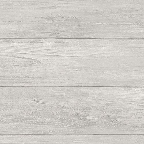 NuWallpaper NU2397 Wood Plank Peel & Stick Wallpaper, Grey
