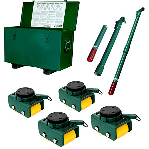 4-Ton-Hilman-Rollers-KBSP-4P-Bull-Dolly-Machinery-Skates-Kit-With-Polyurethane-Wheels