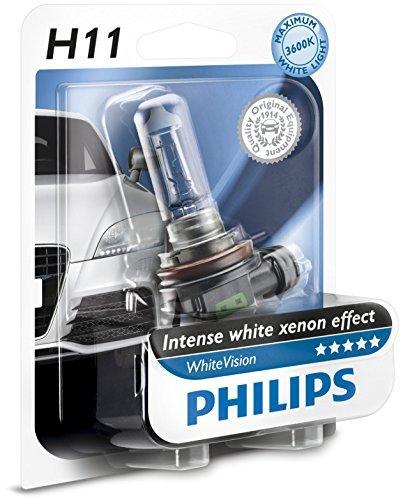 2 opinioni per Philips WhiteVision Effetto Xenon H11 Lampada Fari 12362WHVB1, Blister Singolo