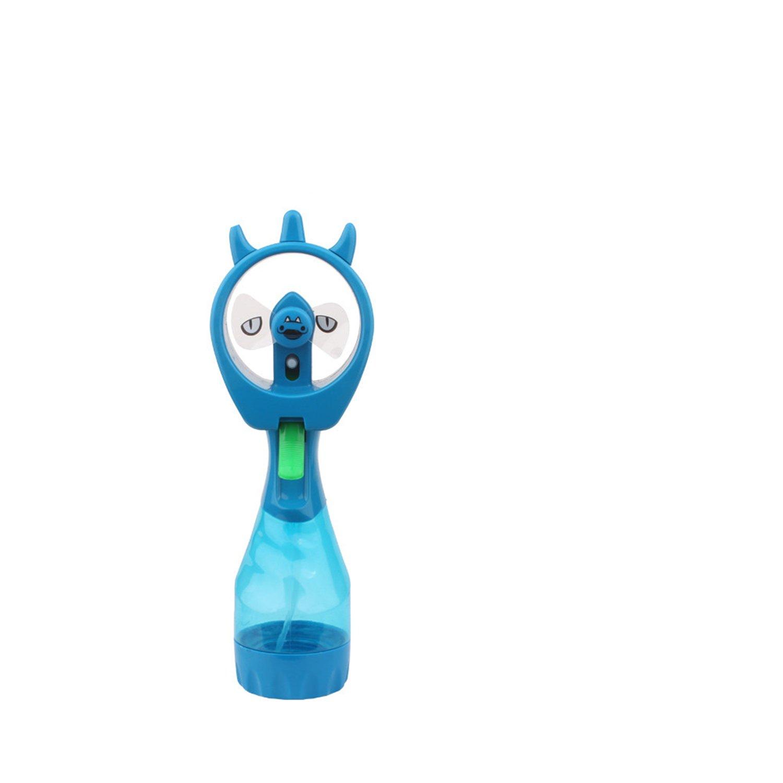 CLOOKOOER Mini Personal Portable Water Spray Fan Hand Misting Cooler Mist Fan (Blue)