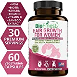 Cheap Biofinest Hair Growth Supplement – Vitamins for Natural Longer, Stronger, Healthier, Frizz-Free, Keratin Rich Hair – with Vitamin B, Biotin, Thiamin – for All Hair Types (60 Capsules) (Women)