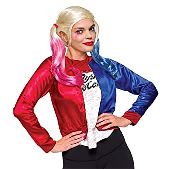 Harley Quinn Teen Costume Suicide Squad Jacket With Shirt & Wig Standard/Medium