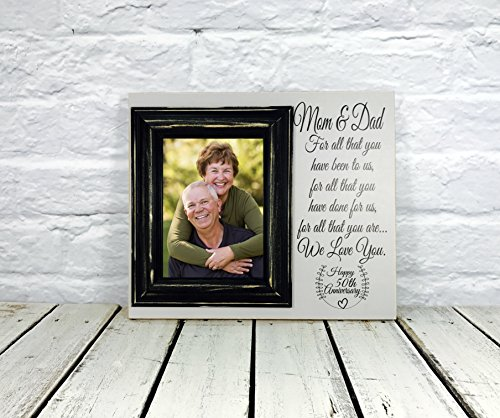 Madi Kay Designs 50th Anniversary Gift Wood Photo For Parents 12