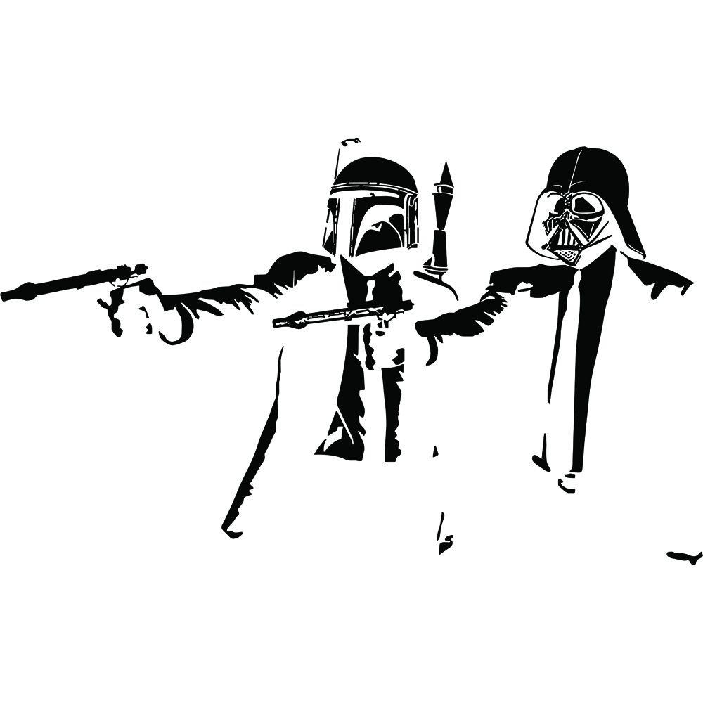 Banksy Star Wars Inspird Fan Pulp Fiction Cool Retro Boys Top Hoodie