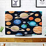 Auraisehome tv Protective Cover Galaxy Space Art Solar System with Planets Mars Mercury Uranus Jupiter Venus Kids tv Protective Cover W19 x H30 INCH/TV 32''