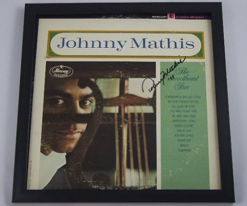 Johnny Mathis The Sweetheart Tree Beautiful Hand Signed Autographed Lp Record Album Vinyl Framed Loa