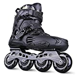 Inline Skates For Men Unisex Racing PP Material ABEC-9 Bearing Travel Urban Use Black , 5