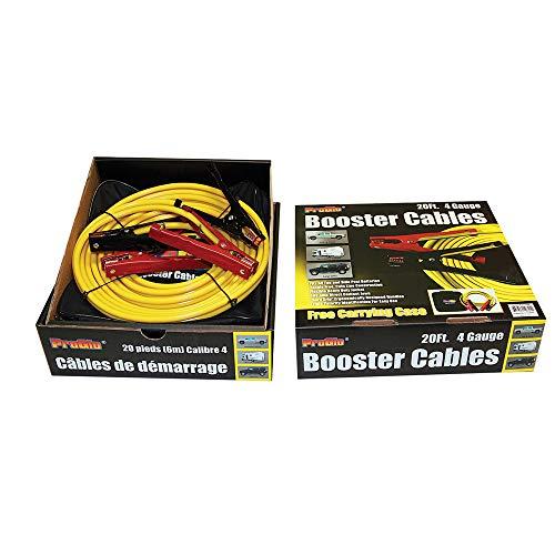 [해외]세기 철사 D1110420YL 프로 Glo 노란 승 압 기 케이블 / Century Wire D1110420YL ProGlo Yellow Booster Cables