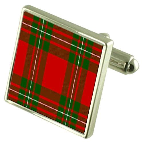 Clan Tartan MacGregor de manchette en argent sterling