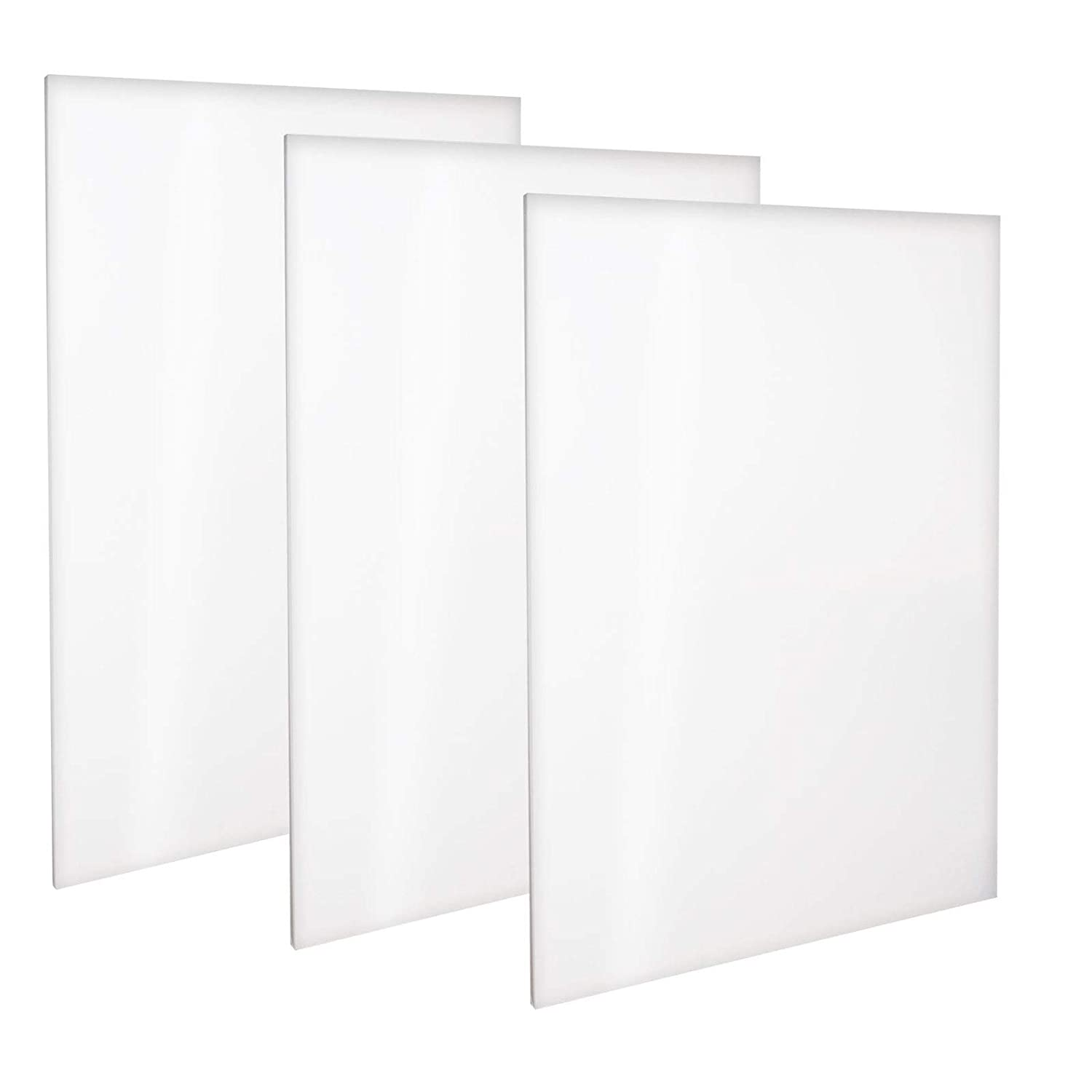 Kurtzy 3 Pack Canvas Set - White Canvas for Artist - Canvas Panel Board of Size 90 x 60cm - Blank Stretched Canvas for Acrylic Painting - Water Painting board - Oil Painting Canvas Board 35X24 Inches