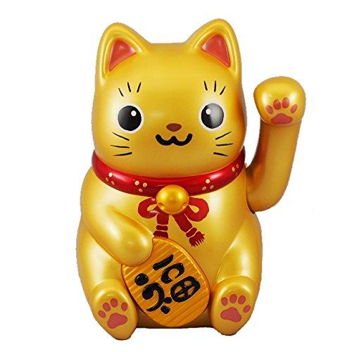 ソーラー招き猫 金の大猫ちゃん B01MEHGZ02