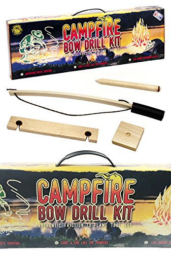 CAMPFIRE BOW DRILL KIT - FRICTION TO FLAME - Made in USA