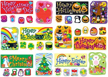Carson Dellosa CD-110180 Holidays BB Set