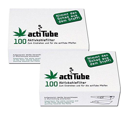 Filtro de carbon activo actiTube, 2 paquetes de 100 unida