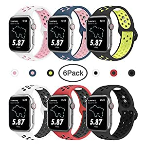 Amazon.com: MITERV Sport Bands Compatible with Apple Watch