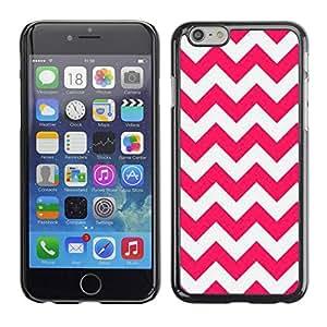 rígido protector delgado Shell Prima Delgada Casa Carcasa Funda Case Bandera Cover Armor para Apple Iphone 6 Plus 5.5 /Pink Lines Pattern White Summer/ STRONG