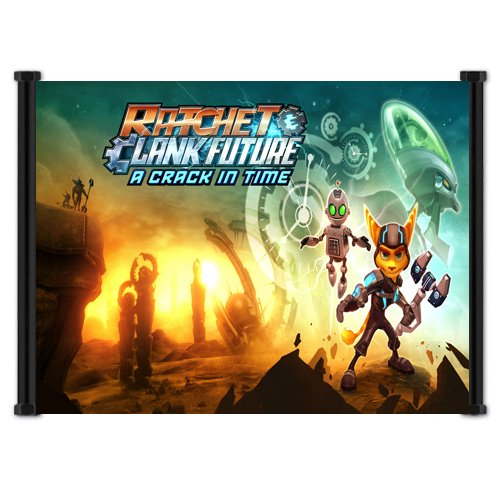Ratchet & Clank Future: A Crack In Time Game Fabric Wall Scroll Poster (42