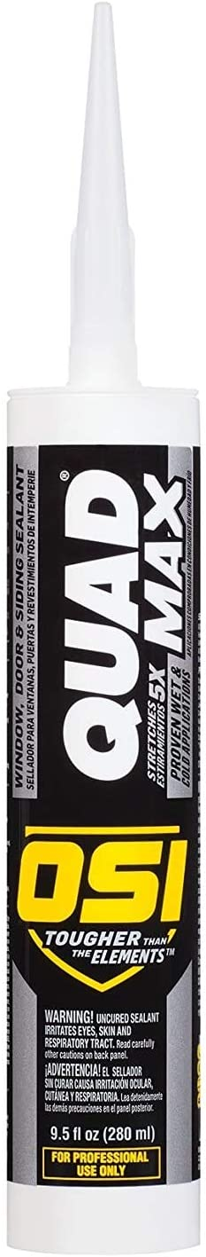 Amazon Com Osi Sealants 1868684 12 Pack 9 5 Oz Quad Max Window Door And Siding Sealant White Home Improvement