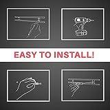 "Elegant Magnetic Knife Holder - 18"" W/ 8 Small Hooks : Easily Access Knives and Utensil Sets! Screws to Backsplash, Wall & Kitchen Rack. Stainless Steel Tool Bar W/ Magnet Strip & Hook Set."