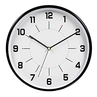 hito 12 Inches Silent Non-ticking Wall Clock w/Acrylic Front Cover -  - wall-clocks, living-room-decor, living-room - 51WsUcJ5AfL. SS400  -