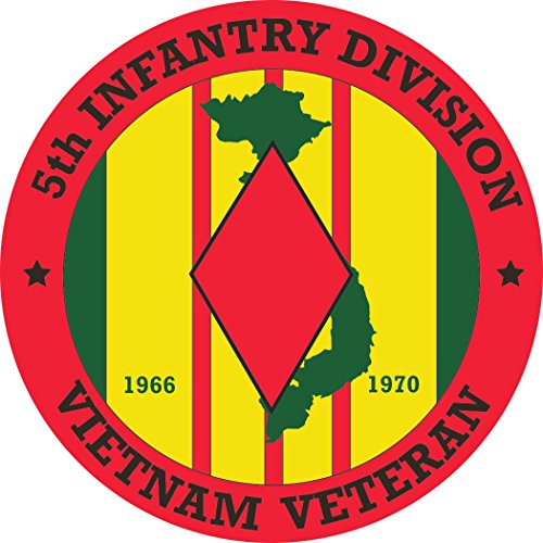 MilitaryBest 5th Infantry Division Vietnam Veteran 11.75 Inch Decal