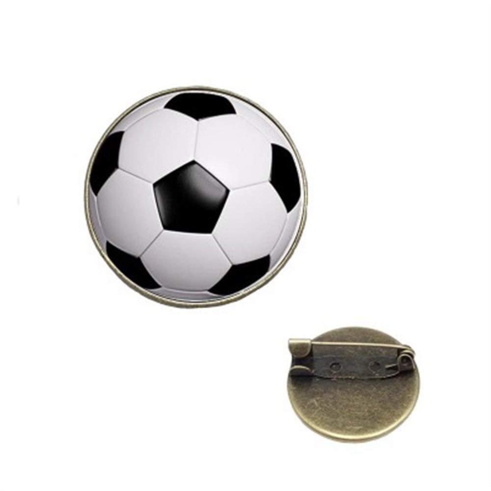 OIBHFO Home Balón de fútbol exquisitos broches Vintage Botón ...