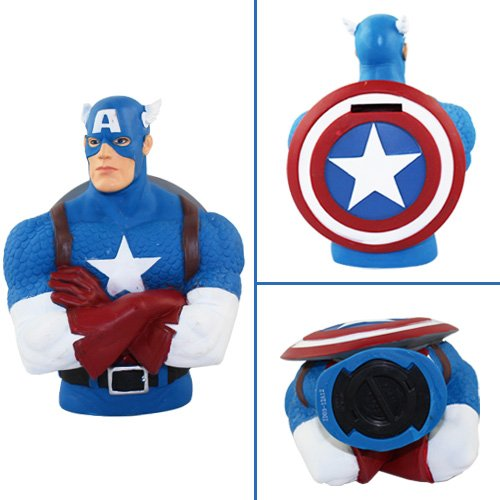 Super Heroes Captain America 18cm Coin Money Bank
