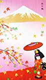 Kawaii Girl Maple-leaf Romantic Fall Landscape Pattern Door Curtain Japanese Noren Curtain Bedroom Curtain