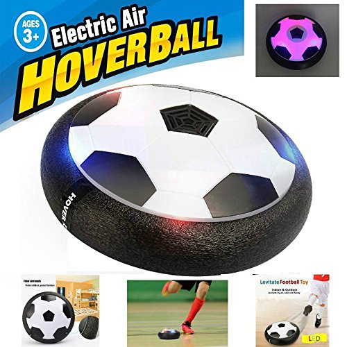 Mansalee Kids Toys Training Football With Parents Game Children Toys Air Power Soccer Disk Indoor Outdoor Hover Ball Game with LED Lights
