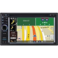 PLANET AUDIO PNV9680 6.2 Double-DIN In-Dash Navigation Touchscreen DVD Receiver with Bluetooth(R)