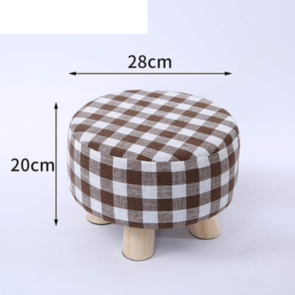 H ZHBWJSH Solid Wood Stool Home Small Stool Creative Small Bench Living Room Coffee Table Stool Sofa Stool Fashion Stool Change shoes Bench (color   B)