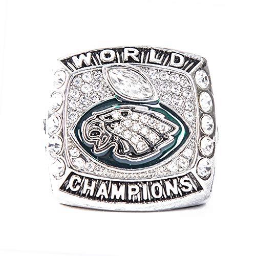 36985879437 Rrunzfon Philadelphia Eagles Football Super Bowl LII World Foles and Wentz  Championship Replica Ring with Wooden