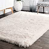 Cheap nuLOOM Handmade Fluffily Speckled Shag Area Rugs, 4′ x 6′, Snow White