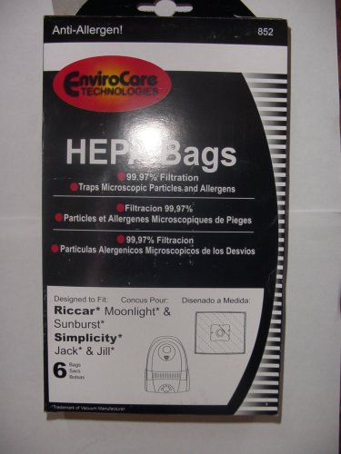 Riccar Moonlight and Sunburst Canister HEPA Vacuum Cleaner Bags, Appliances for Home