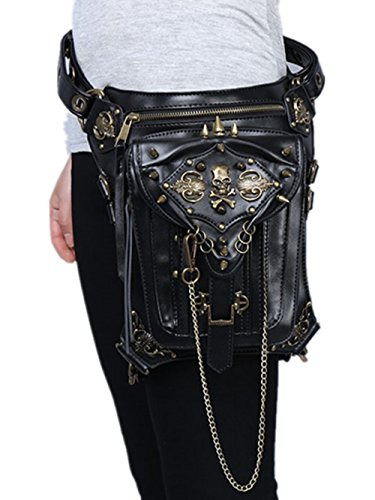 Steampunk Purse Bag Handbag Leather Shoulder Leg Retro Vintage Gothic Rock qYSwCxz