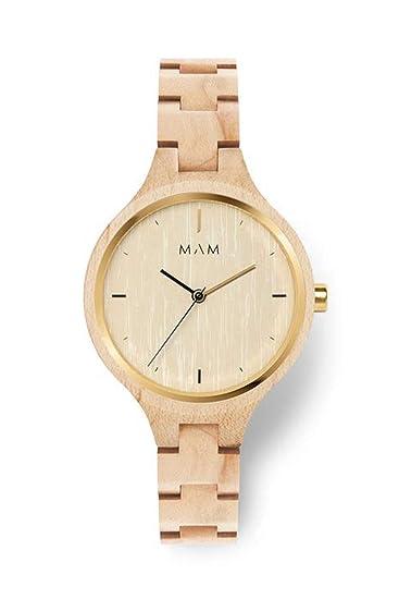 Reloj Madera Mam 606 Silt Maple Mujer Beige