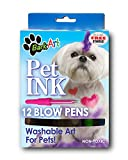 Espree Animal Products Bark Art Pet Ink Blow Pens, 12-Pack