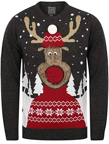 De Rudolph Pull Noir Tortillon castlerock Noel Seasons Sweater Greetings qcnFxvxtP