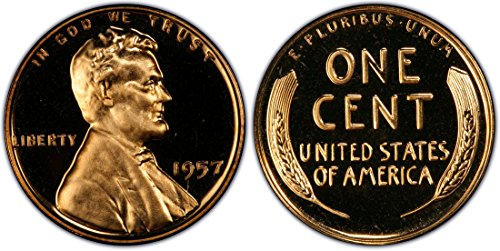 1957 Gem Proof Lincoln Memorial Cent Penny Proof US Mint