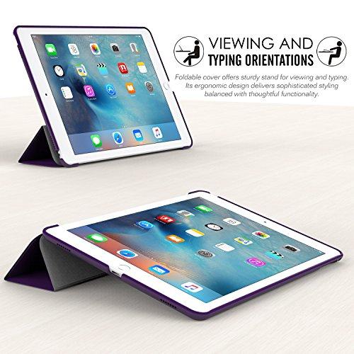 MoKo Funda para iPad Pro 9.7 - Ultra Slim Lightweight Función de Soporte Protectora Plegable Smart Cover Durable (Auto Sueño / Estela) para Apple iPad Pro 9.7 Pulgadas 2016 Tableta(no apto nuevo Apple Púrpura