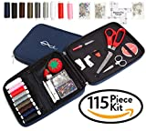 Craftster's® Best Professional Sewing Kit + FREE BONUS EBOOK – Space Efficient Sewing Basket Alternative Offers 100 Premium Sewing Accessories - Designer Case Keeps Everything Neatly Organized. Perfect Sewing Kit for Kids, Adults & Beginners for Home,