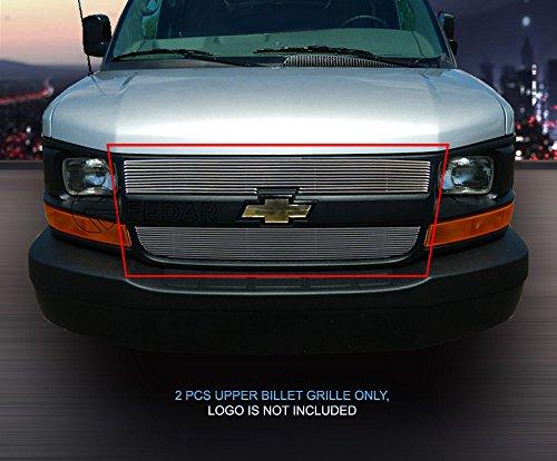 Fedar Main Upper Billet Grille Insert for 2003-2016 Chevy Express Passenger/Cargo Van/Explorer Conversion Van