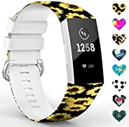 TreasureMax Sport Bands for Fitbit Charge 3/ Fitbit Charge 4/ Charge 3 SE Women Men, Floral Fadeless Waterproo