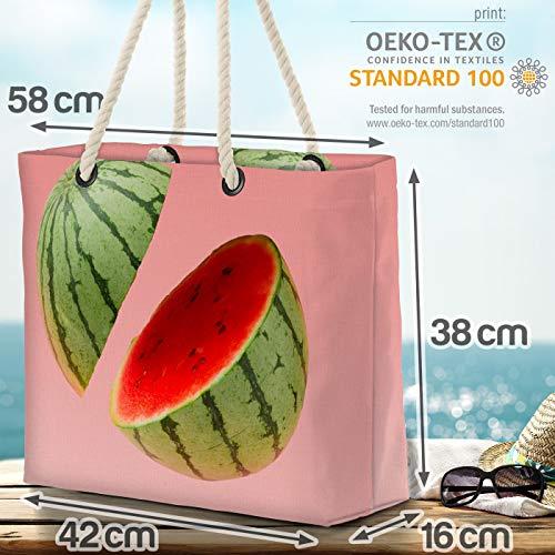 VOID vattenmelon rosa strandväska Shopper 58 x 38 x 16 cm 23 L XXL shoppingväska väska resväska Beach Bag