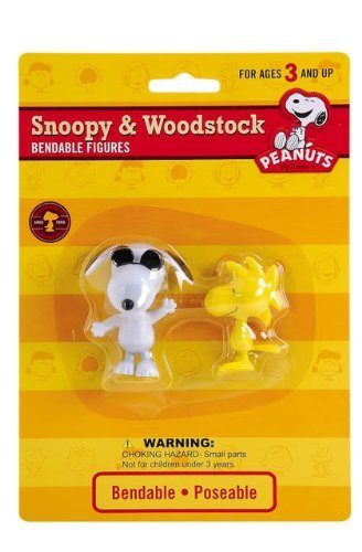 Snoopy Bendable Figure (Peanuts Joe Cool Snoopy & Woodstock Bendable Figure Set)
