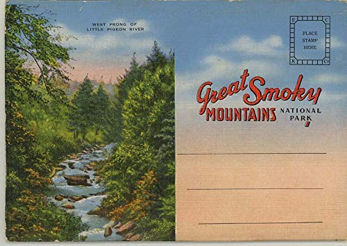 Great Smoky Mountains National Park - 1939 Souvenir Linen Postcard Folder #120738