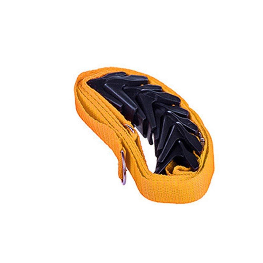 RoadRoma Adjustable Over Door Straps Hanger Hat Bag Coat Clothes Rack Organizer Hook Orange