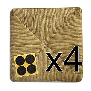 Arredasì Set De 4 Assises De Chaises En Paille Dimensions 37 Cm X